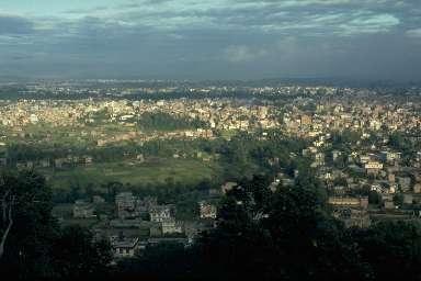 Vue générale de Katmandou