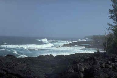 Côte volcanique au sud de l'ile