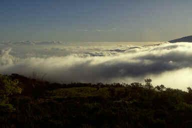 Couché de soleil au Morne Langevin (2416m)