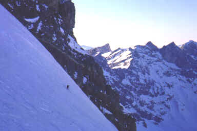 Dans la partie centrale de la face (Engelberg - Titlis - Janvier 98)