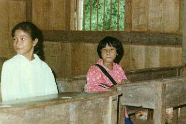 Ecole dans un village de montagne