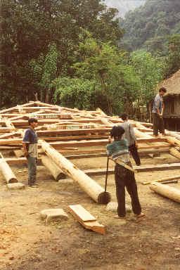 La construction d'une maison