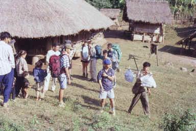 Départ du village Yaos